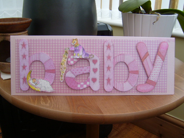 Pearlescant Baby Card