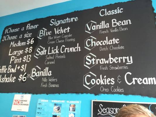 Hand Crafted ice cream frozen instantly with Liquid Nitrogen