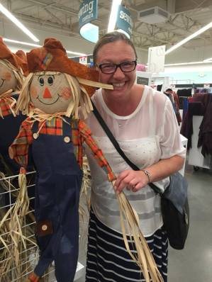 Another craft shop and Vicky got a little excited with Mr Scarecrow, and brought him home... in my Case!